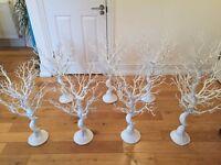 8 White Manzanita Trees 75cm - Ideal Wedding Decorations