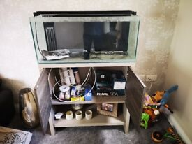 Fluval M90 Marine Tank and complete starter kit and extras
