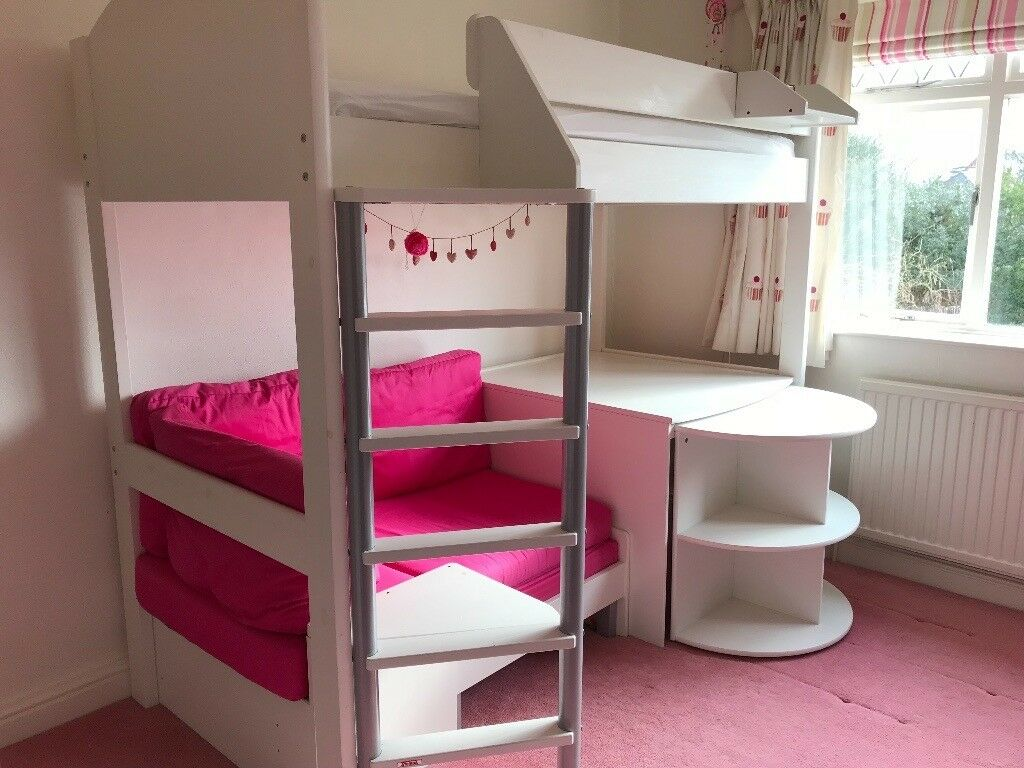 Stompa Casa 4 High Sleeper Bed With Pull Out Bed For Sleep