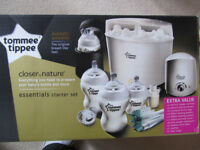 """Tommee Tippee """"Closer to nature"""" essentials starter kit."""