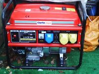clarke fg3050 3kva or 110 dc generator as new only used once