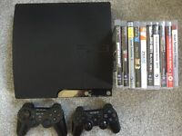 PlayStation 3 120gb + 2 controllers + 10 games