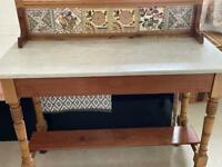 Very beautiful and rare wash table