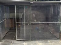 Large 8ft X 10ft Dog Run with roof see pictures £600