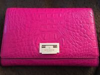 Pink leather Kate Spade Clutch