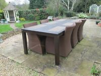 Lareg Outdoor Table and Chair Set