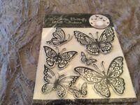 3D Glitter Butterfly Wall Stickers