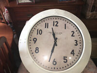 Superb Brand New Extra Large Deep Case Ridge Porthole Wall Clock - Cream