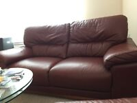 Leather sofa, recliner, armchair