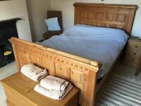 Double Bed, Solid Pine with Mattress