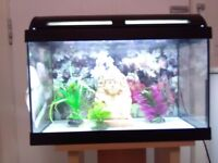 marina .fish tank and stand also accessories