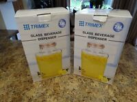 Trimex Glass drinks dispensers for sale