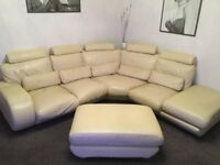 Rondo Oriente Leather corner suite including leather foot/seat stool