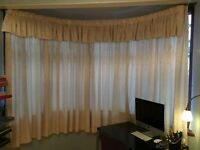 Good quality lined cream curtains