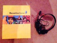 Rosetta Stone Spanish lessons level 1-5 CD Rom
