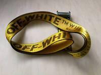 Off-white gold yellow belt