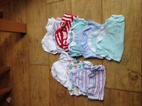 Baby boys vests and baby grows
