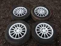 """Audi A4 15"""" alloys and tyres"""