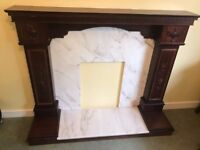 marble fire place can deliver