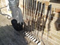hippo plus oversize golf clubs full set in good condition with 1 and 3 woods and large bag
