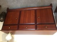 Made by Stag a cherry coloured sideboard and table