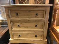 Corona 3 drawer Chet of drawers