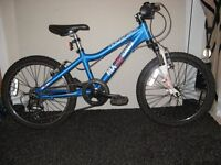 boys mx20 terrain ridgeback bike in blue/white good condition