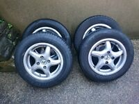 """Full set of Fox Alloy Wheels 13"""" with tyres. Must go now. Bargain!!"""