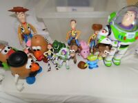 Toy story figures with Mr Potato Heads