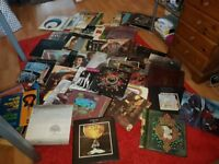 LARGE COLLECTION MAINLY ROCK 80 LP VINYL RECORDS BLACK SABBATH PINK FLOYD VDGG BEATLES LED ZEPPELIN