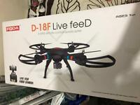 D-18F Live Feed Drone with HD video camera