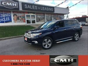 2013 Toyota Highlander LIMITED 4X4 NAV ROOF LEATH CAM *CERTIFED*