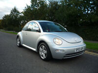 vw beetle, 2003 very low mileage 2.0l petrol, only 68000 miles, 1 years mot , volkswagon.