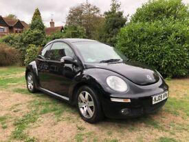 Black Volkswagen Beetle 1.6, 2009 (09 reg), 81000 miles - brilliant condition