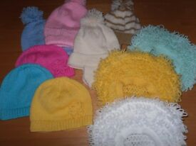 New Hand Knitted selection of boys and girls hats
