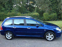 PEUGEOT 307 SE 1.6 ESTATE 2003 WITH FULL SERVICE HISTORY-APRIL 2017 MOT-A CLEAN CAR-CAN DELIVER TO U