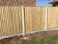 ❄️New Straight Top Feather Edge Fence Panels •