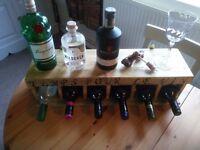 Wall mounted wine rack (6 bottles)