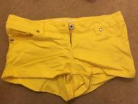 Yellow White Label Shorts