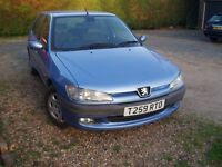 Peugeot 306 Automatic 1.8 MOT until 16th Feb 2018 Stamped Service History only 69252 miles.