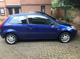 Ford Fiesta 1.2 petrol 2004 3 doors metallic blue