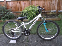 Girls Apollo Vivid Mountain Bike - 18 Gears - 24 Inch Wheels - 12 Inch Frame