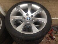 """Genuine bmw 5 Series E60 E61 18"""" 5x120 8J and 9J style 124 alloy wheels, original"""