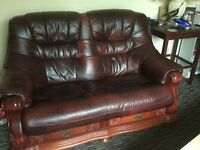 A Cottage Style 2 Seater Leather Sofa