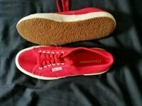 Red Superga pumps