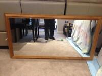 Large pine frame mirror