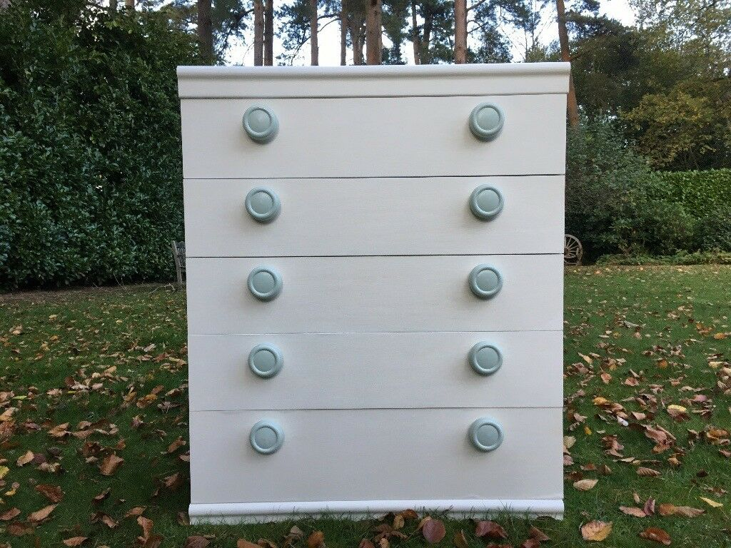 Hand painted retro chest of drawers 1960's /70's