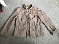 Ladies beige M&Co jacket Size 14 Bargain £3