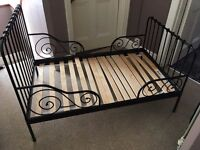 Selling IKEA Extendable children black bed. Bed base and Mattresses included.