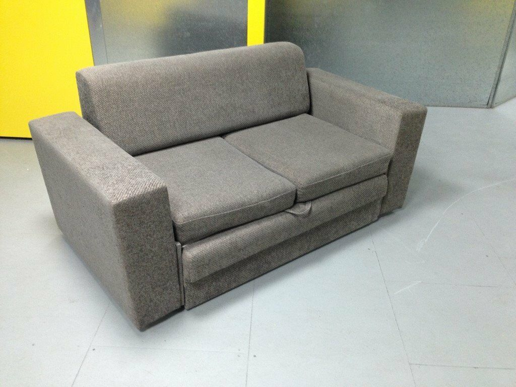 Used Sofa Bed Two Seater Colour Stone With Light Fleck In